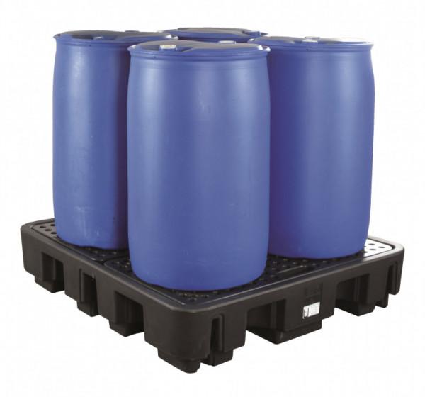 Auffangwanne PE, für 4 x 200 Liter Fässer