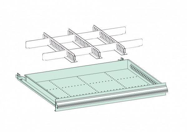 Einteilungsmaterial-Set für Schubladen, Metall