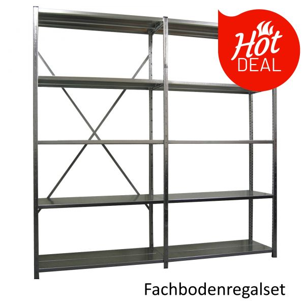 Günstiges Fachbodenregal Set - HOT DEAL Aktion - lagerdirekt.ch