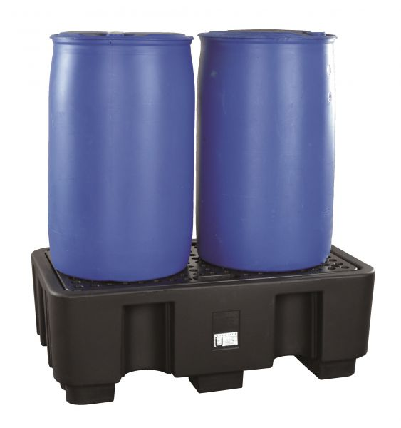 Auffangwanne PE, für 2 x 200 Liter Fässer