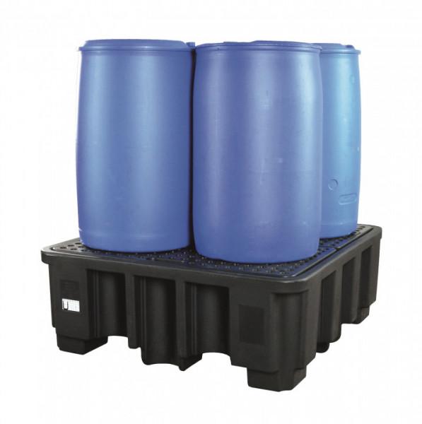 Auffangwanne PE, für 4 x 200 Liter Fässer (H)