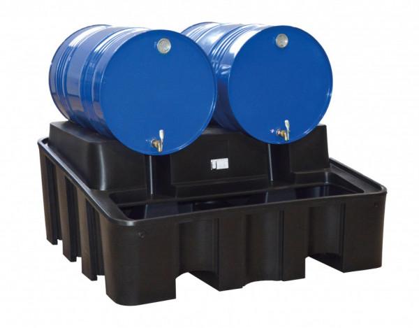 Auffangwanne mit integriertem Abfüllbock für 2 Stk. 200 Liter Fässer