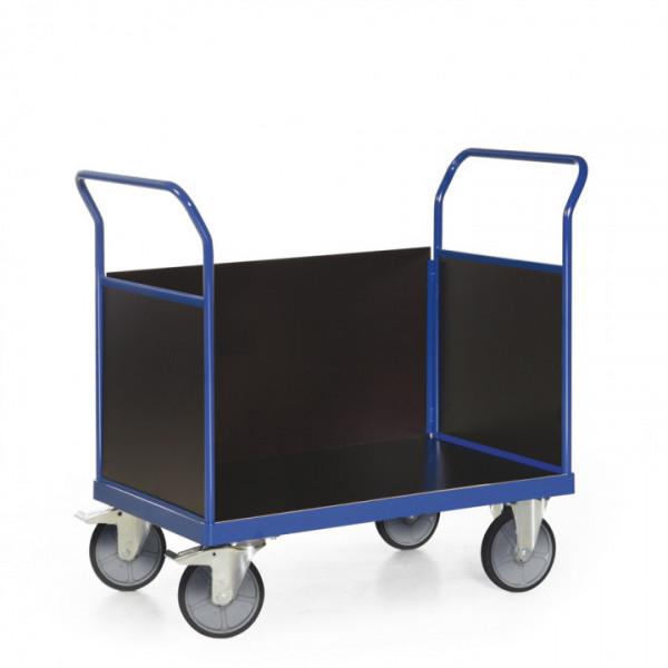 Plattformwagen mit 3 Seitenwänden