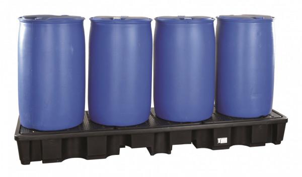 Auffangwanne PE, für 4 x 200 Liter Fässer (L)
